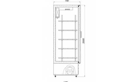Чертеж холодильного шкафа S-1400