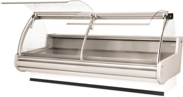 Холодильная витрина с телескопической системой подъема стекол