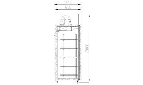 Морозильный шкаф Boston-Gastro-MR чертеж