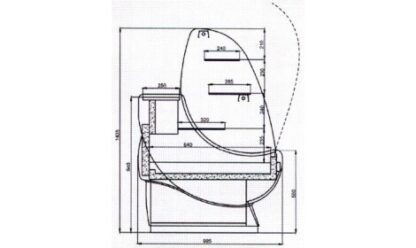 чертеж кондитерской витрины Amaretto C-G-g