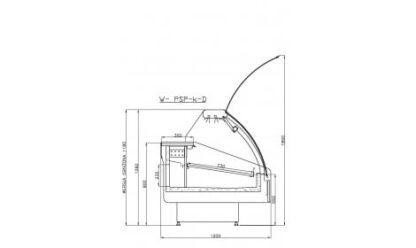 чертеж морозильной витрины MODENA-s-k-D (PSP-k-D)
