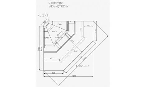 чертеж холодильной витрины MODENA-Nrożnik/Corner-v NW/NZ (серия W-PVP NW/NZ) Cold 2