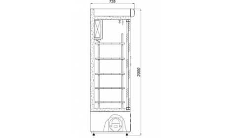 чертеж холодильного шкафа ASTANA-DR (SW-DR)