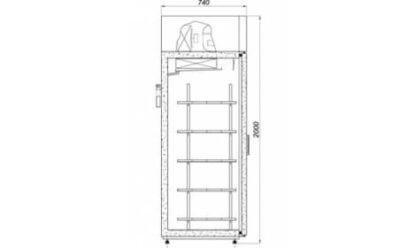 чертеж холодильного шкафа BOSTON-A/G (S-A/G) 2