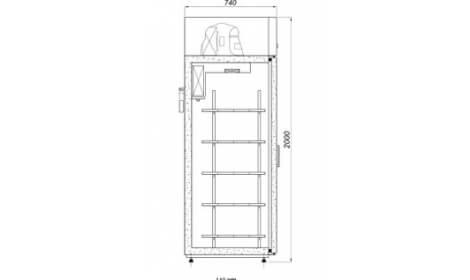 чертеж холодильного шкафа BOSTON-A/G (S-A/G)