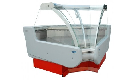 Угловая холодильная витрина MODENA-v NW/NZ (серия W-PVP NW/NZ) Cold