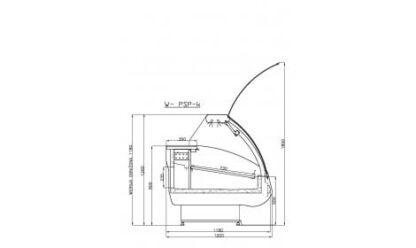 чертеж холодильной витрины MODENA-s-k (PSP-k)