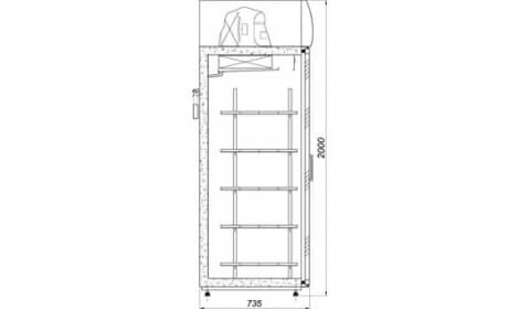 чертеж кондитерского шкафа ASTANA-DP-A/G (SW-DP A/G)