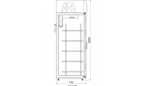 чертеж холодильного шкафа ASTANA-DP-A/G (SW-DP A/G) 2