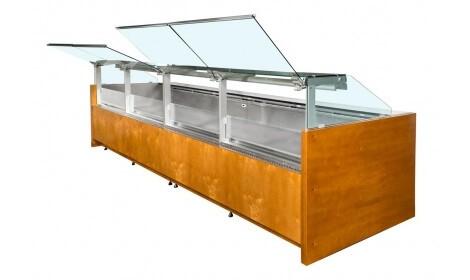 Холодильная витрина VERONA-s-k-D (серия W-PP-k-D) Cold