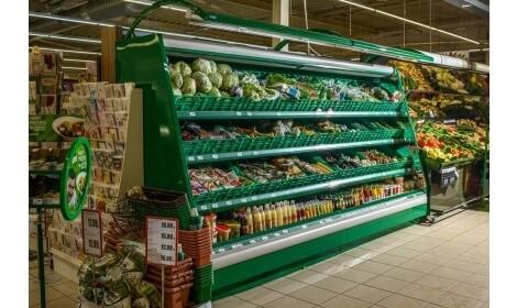 холодильная горка VEGA (R-Fa) в магазине