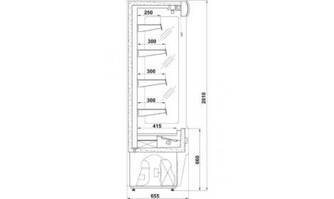 чертеж холодильной горки Remo (R)*655