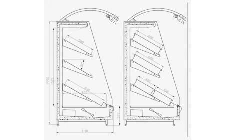 чертеж холодильной горки VEGA (R-Fa)
