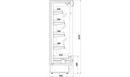 чертеж холодильной горки Remo (R)*655/o