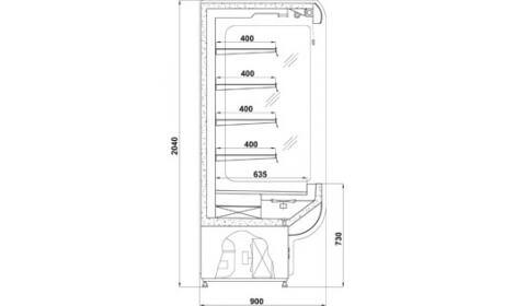 чертеж холодильной горки Remo (R)*900
