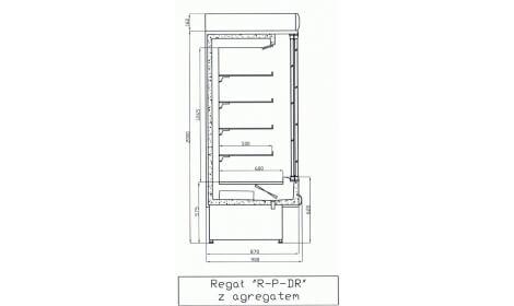 чертеж холодильной горки LISBONA (R-PDR)
