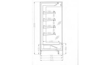 чертеж холодильной горки Oxford (R-PS)