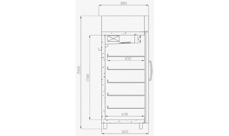 чертеж морозильного шкафа ASTANA-Gastro-MR (SW-G MR)