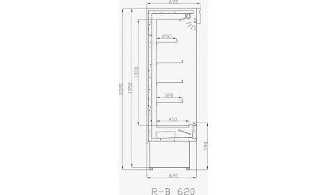 чертеж холодильной горки Bari (R-B)/o