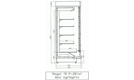 чертеж холодильной горки LISBONA/o (R-PDR/o)
