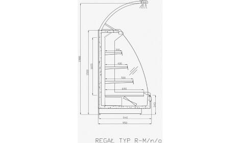 чертеж холодильной горки Monza (R-M n/o)