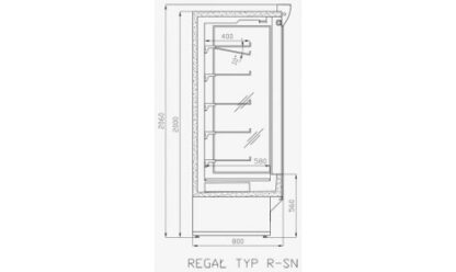 чертеж холодильной горки Tokyo (R-SN)