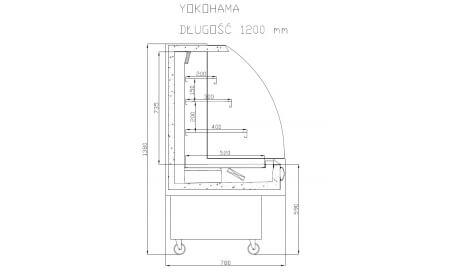 Холодильная горка YOKOHAMA GLASS производства Cold
