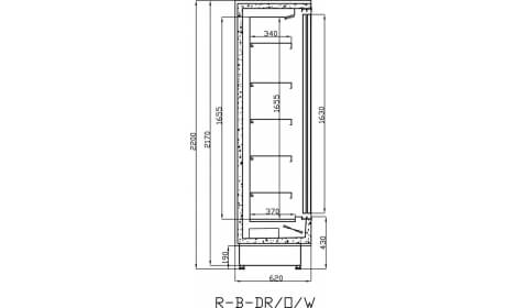 чертеж холодильной горки Bari (R-B)-DR/W