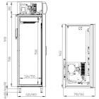 чертеж холодильного шкафа DM110-SD-S
