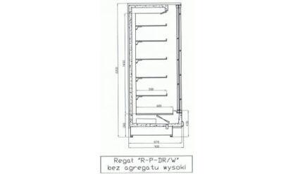 чертеж холодильной горки LISBONA/W