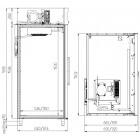 чертеж холодильного шкафа СV114-S