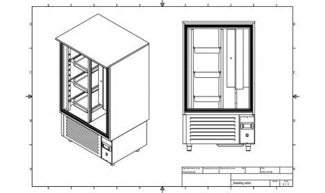 чертеж шкафа шоковой заморозки SZ-GN 1/1