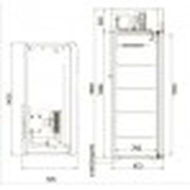 Шкаф универсальный CV110-Sm-Alu п