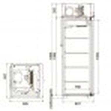 Шкаф универсальный CV105-Sm-Alu 1
