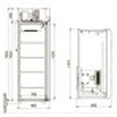 Шкаф морозильный CВ 114 Sm-Alu