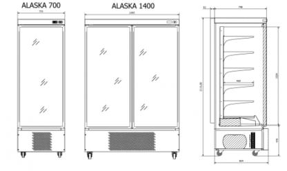 Морозильный шкаф Alaska чертеж