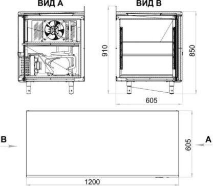 Чертеж Холодильного стола TM2-G
