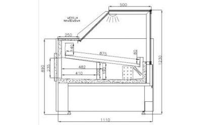 Холодильная витрина куб
